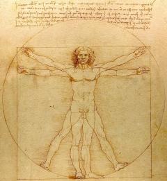 Człowiek witruwiański Leonarda da Vinci, fot. Luc Viatour